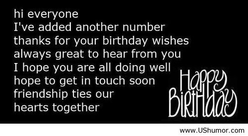 Happy birthday wish reply US Humor - Funny pictures, Quotes, Pics, Photos, Images