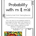 Probability with M&Ms Activity ~ A Data & Probability Activity