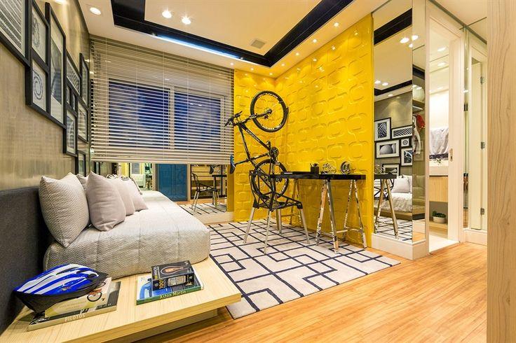 quarto de menino / bedroom / boy / bike / bicicleta / apartamento decorado / home decor / bohrer arquitetura / interior design