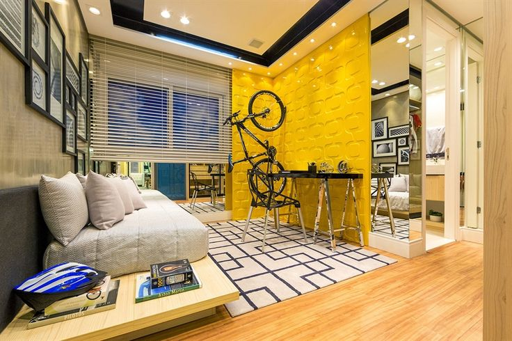 quarto de menino / bedroom / boy / bike / bicicleta / apartamento decorado / home decor / bohrer arquitetura / interior design