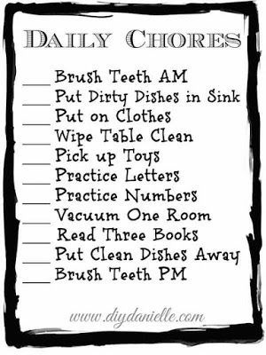 daily chore checklist