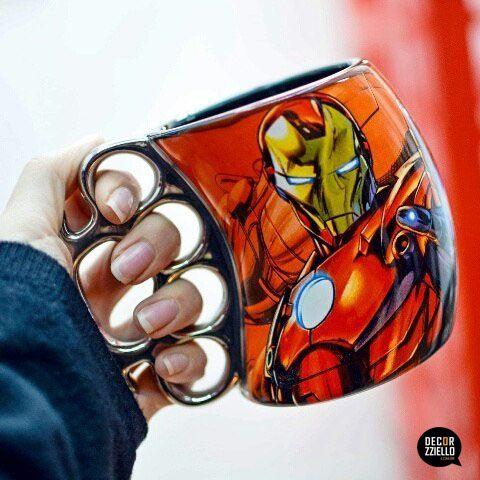 Caneca soco inglês iron man #canecasocoinglês #canecasocoinglêsironman #ironman #homemdeferro #decorzziello