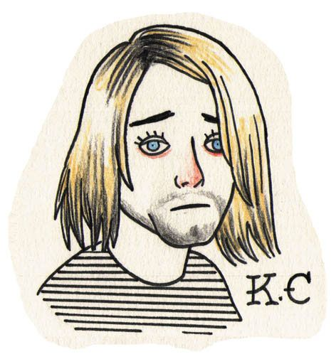 Kurt Cobain Tattoo Flash (2013)
