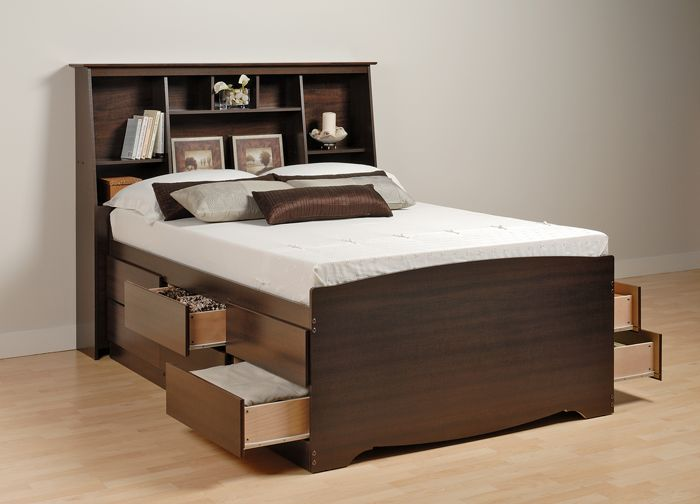 Low Queen Size Bed Part - 38: Bedroom: Metal White Bed Frame Queen Tall And Mattress From Tall Bed Frame  By Raising