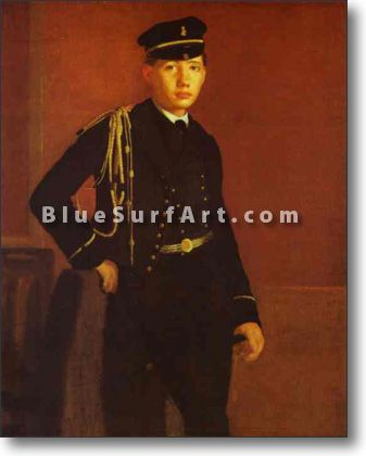 Portrait of Achille de Gas in the Uniform of a Cadet - £124.99 : Canvas Art, Oil Painting Reproduction, Art Commission, Pop Art, Canvas Painting