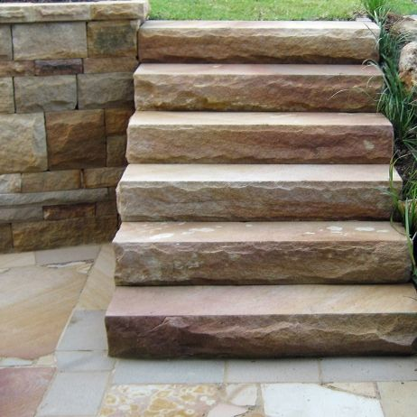 how to make steps with pavers
