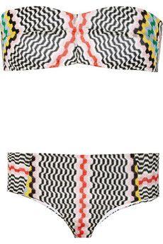 Missoni Crochet-knit bandeau bikini   NET-A-PORTER