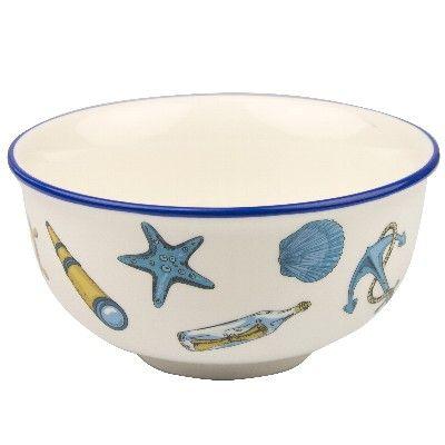 NA 52579 - Ciotola in ceramica con Soggetti marinari - Ø 15 cm