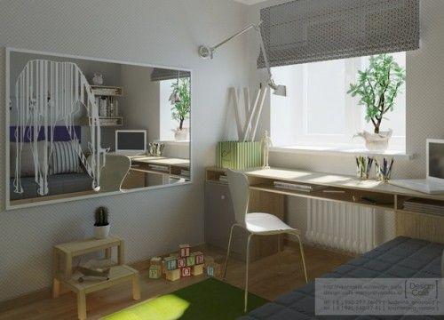 habitacion juvenil verde 2 500x360 Habitaciones Juveniles de Studio Cafe