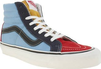 Vans Multi 50th Sk8-hi 38 Reissue Womens Trainers Vans inject some vintage styling and custom colourways picked from Steve Van Doren to celebrate 50 years Off the Wall. The Sk8-Hi 38 Reissue arrives in multi-coloured fabric with iconic checkerboard a http://www.comparestoreprices.co.uk/january-2017-8/vans-multi-50th-sk8-hi-38-reissue-womens-trainers.asp