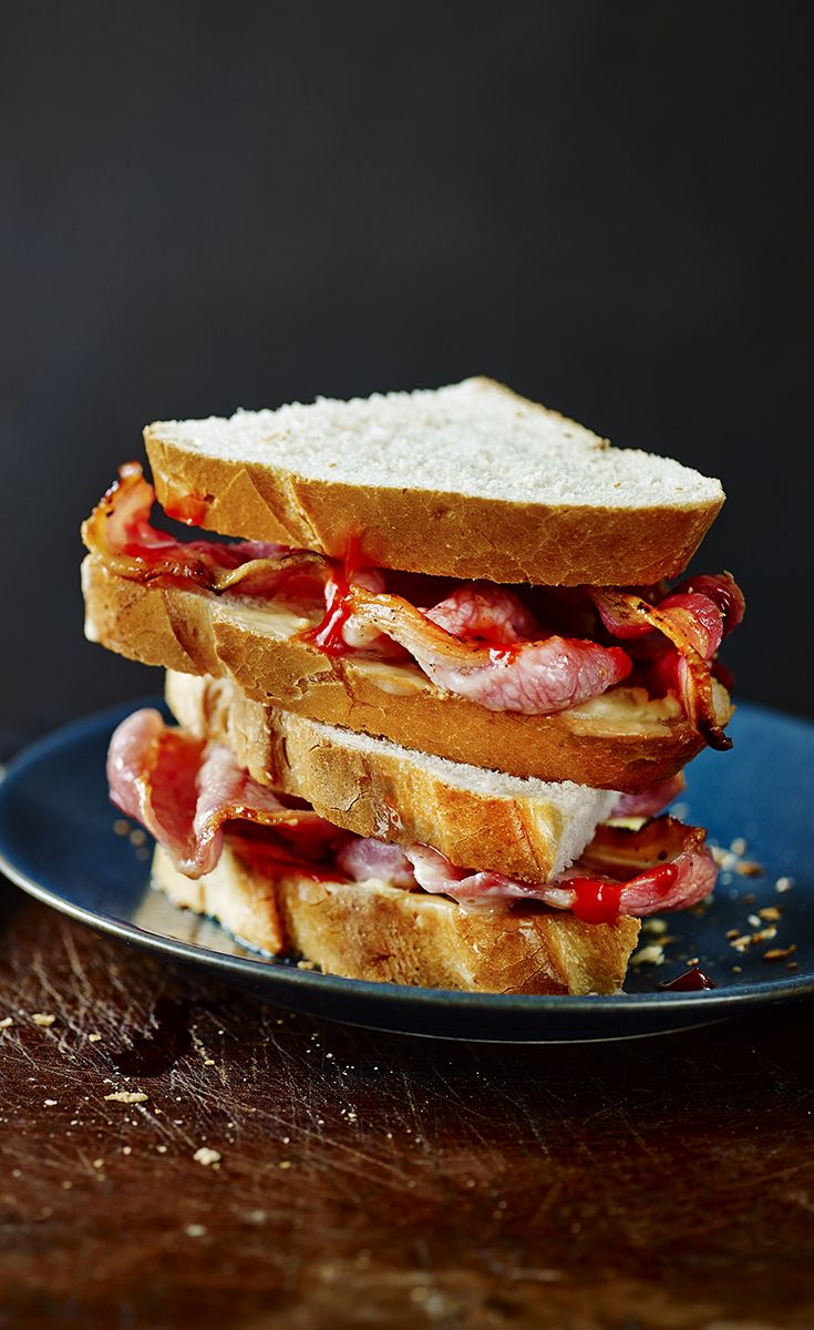 Breakfast doesn't get much better than a mighty bacon sandwich with thick white bread and ketchup. Find more Waitrose breakfast recipes at waitrose.com/recipes
