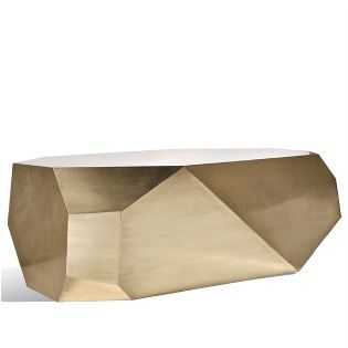 Popova brass coffee table at South Hill Home
