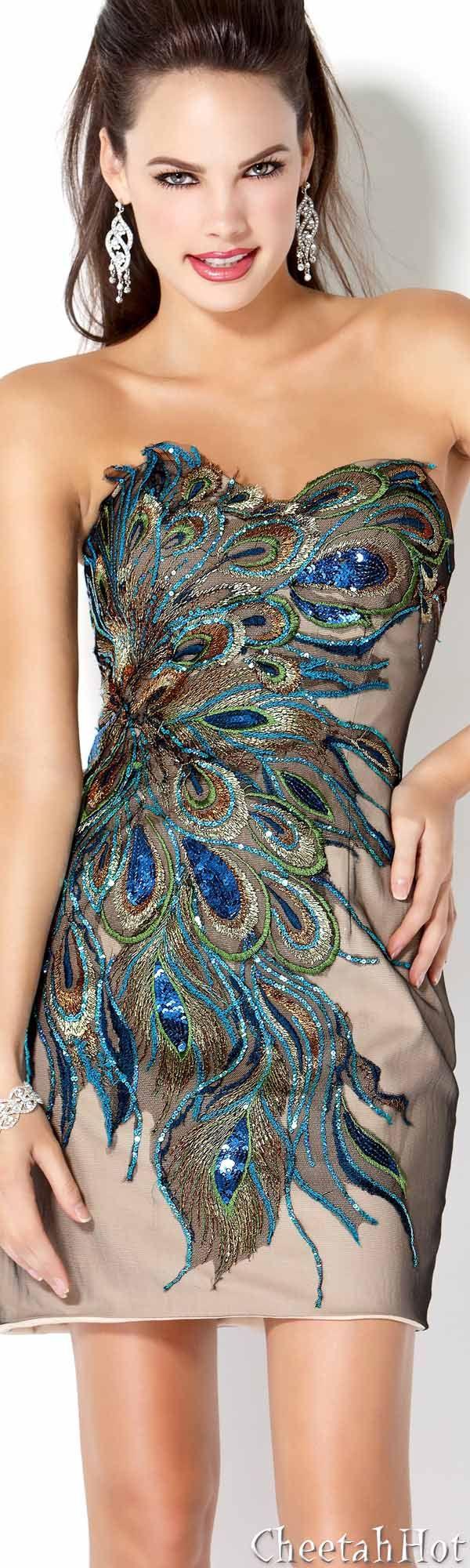 JOVANI - Peacock Design hope Karla Gonzalez likes this dress.