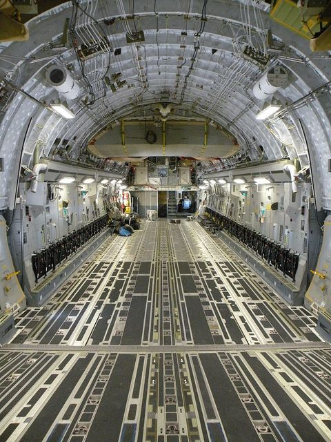 C-17 Cargo compartment looking forward