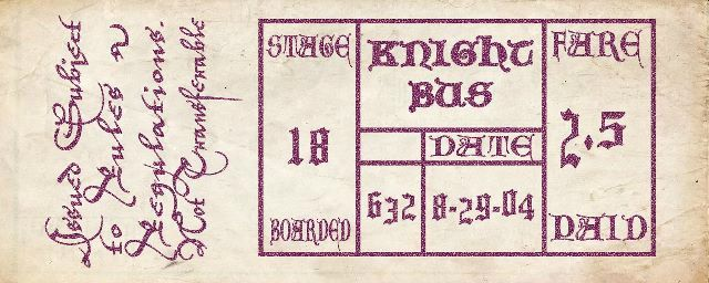 A Ticket to the Knight Bus ( Harry Potter )