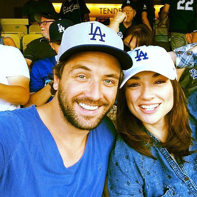 Darren McMullen and Crystal Reed went to a Dodgers game. Source: Instagram user darrenmcmullen