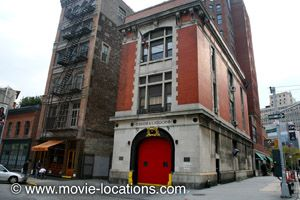 """Ghostbusters headquarters ... """"8 Hook and Ladder"""" @ 14 North Moore Street, off West Broadway (Tribeca)"""