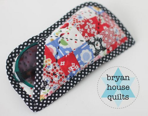 Patchwork Sunglasses Case {A Tutorial}