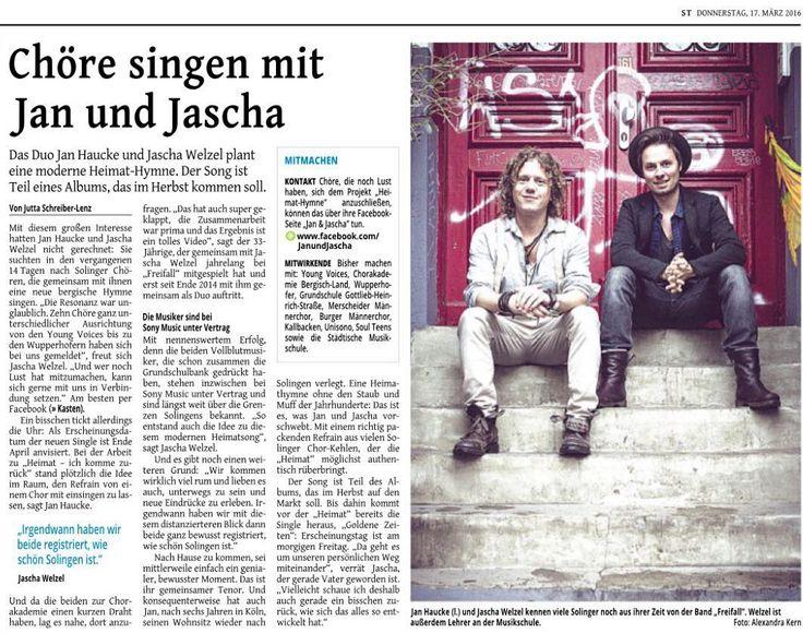 Heute in der Zeitung #jan #janundjascha #jascha #solingen #folk #folkmusik #folkmusic #banjo #gitarre #guitar #whisky #talisker #irland #schottland #steelguitar #mandoline #akkordeon #solingertageblatt #bestfriends #plattenvertrag #duo #bergischesland #irishbouzouki #bouzouki #piano #klavier #goldenezeiten #folktuns #hamburg #believedigital by jan_und_jascha https://www.instagram.com/p/BDC7_tcCfjD/ #jonnyexistence #music