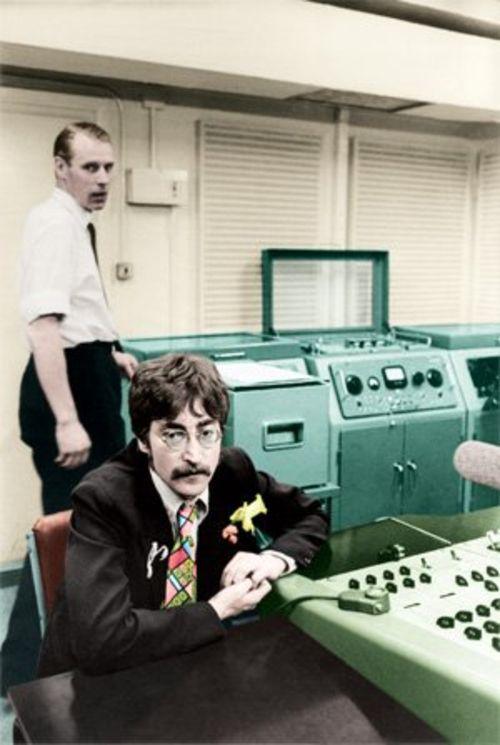 Sir George Martin and John Lennon  JL-GM-Air-Studio