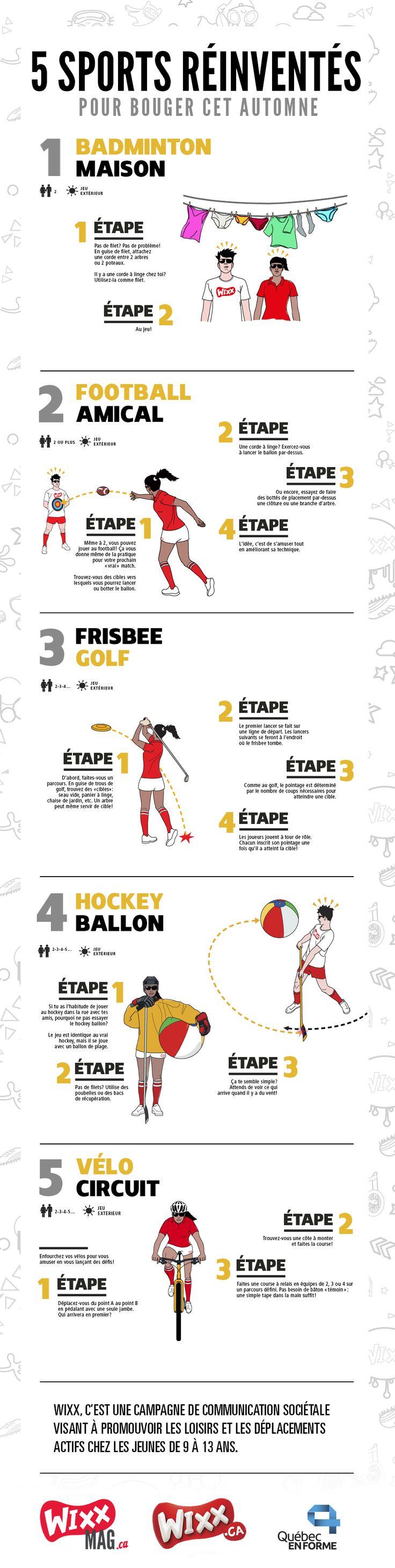 5 sports réinventés #INFOGRAPHIE | WIXXMAG