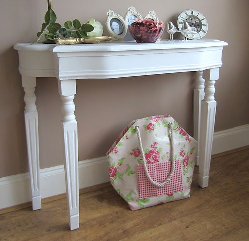 hallway WHITE AGED CONSOLE TABLE DRESSING TABLE French Vintage Shabby Chic | eBay