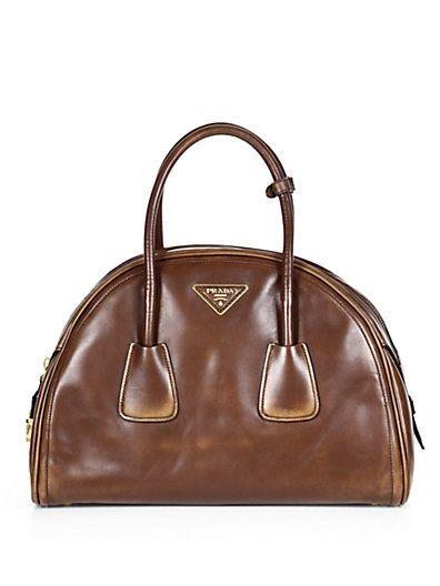 Prada - Vitello Vintage Bowler Bag - Saks.com
