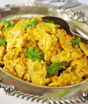 First thing I'm eating in the UK - I MISS Coronation Chicken!