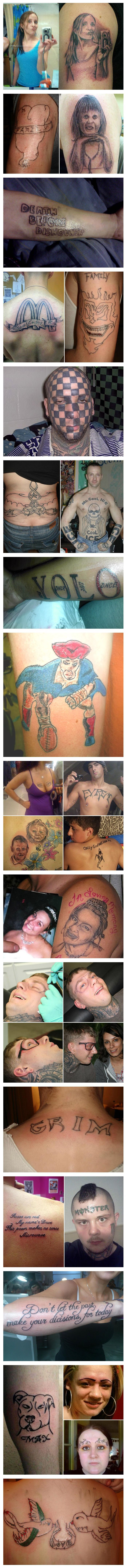 Extremely ugly and stupid tattoos. Many regerts.
