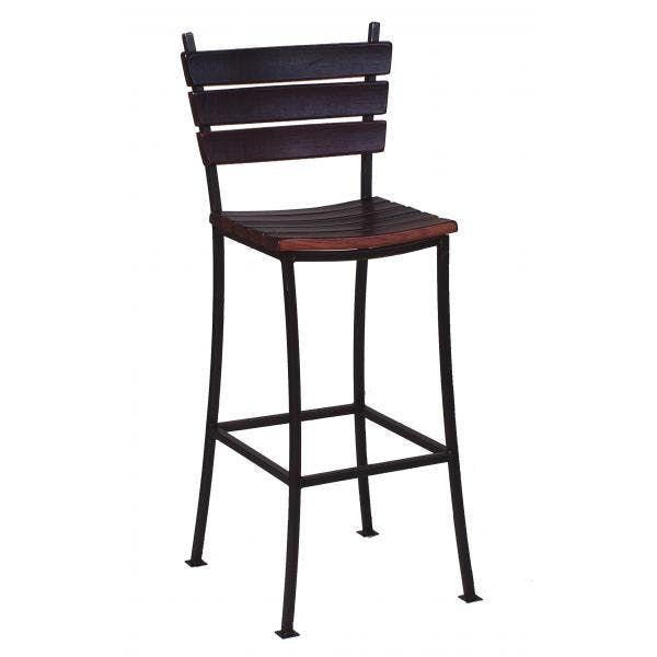 Stave Back Bar Stool 24 Reclaimed Wine Barrel Furniture In 2020 Bar Stools Barrel Furniture 24 Bar Stools
