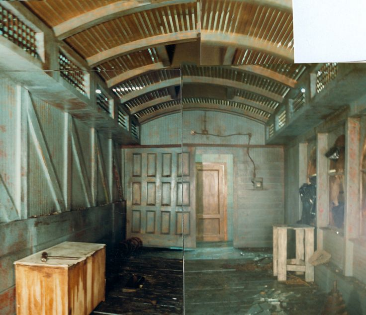 The train car from the murder scene (as identified by Mischa and Lucas). Set design for Twin Peaks by Richard Hoover