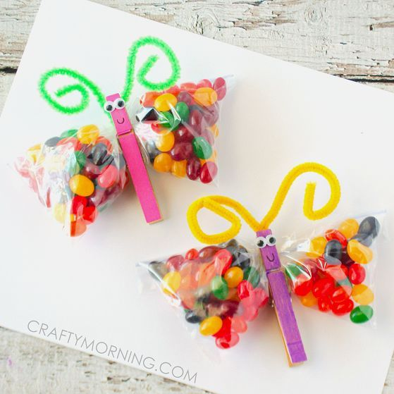 Easy but sweet treat for the classroom: Jellybean Butterflies! A great accompaniment for a butterfly or bug unit!