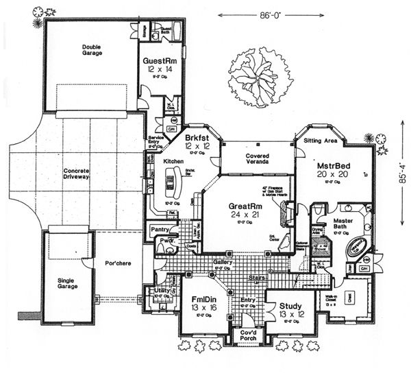 French Country House Plans With Porte Cochere – Jerusalem House
