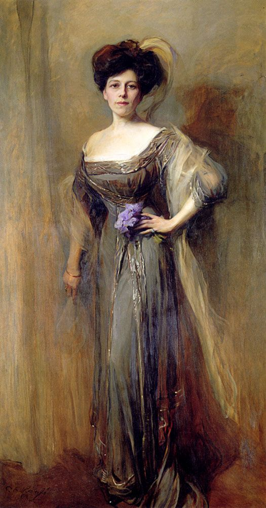Philip Alexius de Laszlo (1869-1937)  Condesa Meyendorff  Oil on canvas  1908