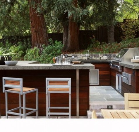 Comfortable Cooking Place in Modern Outdoor Kitchen Design Ideas