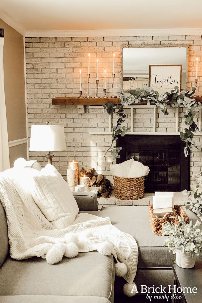 Cozy Winter Decor In My Living Room Winter Living Room