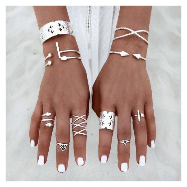 GypsyLovinLight Dusk Magic ❤ liked on Polyvore featuring jewelry, rings, accessories, finger, hand, midi ring, midi rings jewelry, top finger rings, chains jewelry and beach jewelry