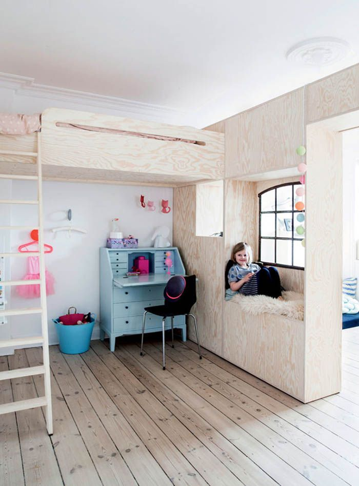 self made plywood furniture in children rooms