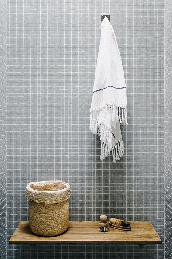 tassel towel in an Australian bath from The Style Files