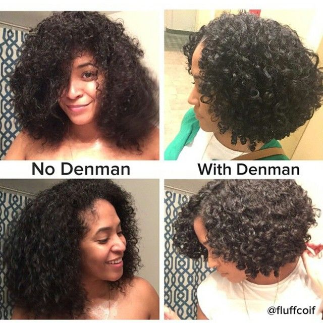"@fluffcoif showing results with a ""Denman brush"" @denmanbrush ! #curlynatural"