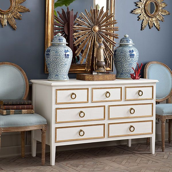 Wisteria   Furniture   Shop By Category   Dressers U0026 Chests   Gilt Trim  Chest