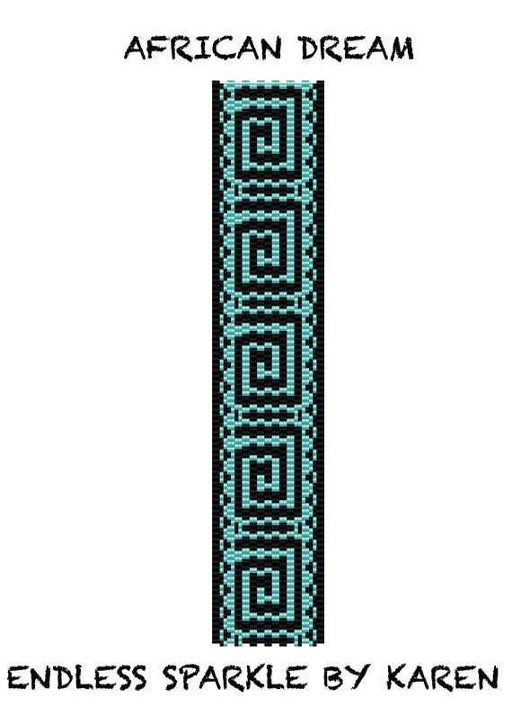African Dream Peyote Cuff Bracelet Pattern