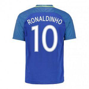 2016 Brazil Soccer Team Ronaldinho 10 Away Replica Jersey [D976]