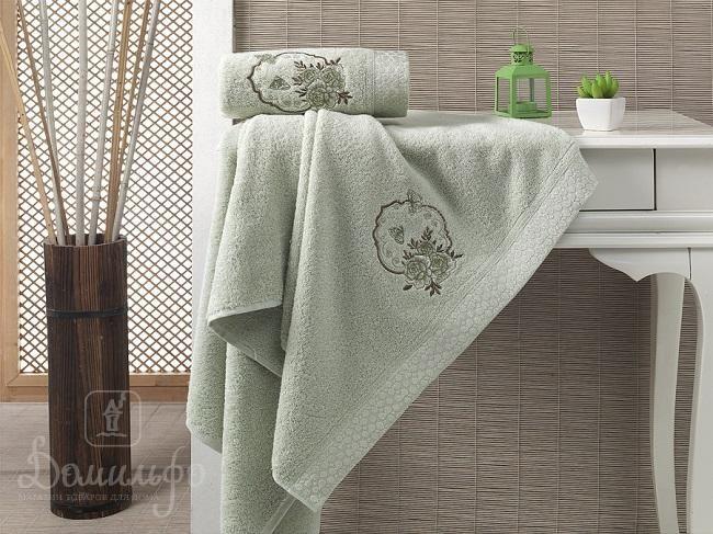 Набор полотенец с вышивкой KARNA DEMET зеленый от Karna (Турция) - купить по низкой цене в интернет магазине Домильфо