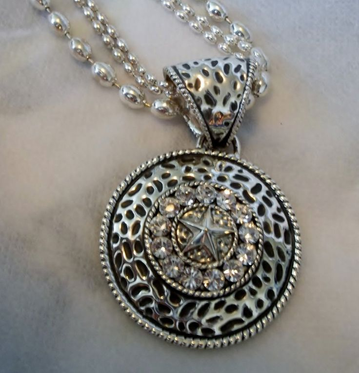 323 best cool jewels vintage costume jewelry images on pinterest vintage montana silversmiths western medallion circular necklace pendant antiqued design crystals center star mozeypictures Images