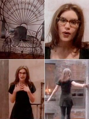Being Lisa Loeb, or at least wearing cat eye glasses and a babydoll dress. Luckily enough for me, I revisited babydoll style dresses and find they work for my round body and short legs. I just needed a good opaque tight and a cardigan. Sweet!