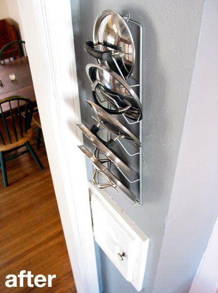 Kitchen Cure Update: New Pot Lid Rack And Better Storage