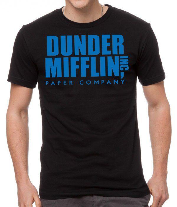 New+Dunder+Mifflin+Black+Men+T-Shirt