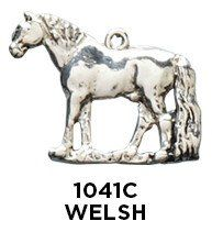 Welsh Pony Charm - Sterling Silver