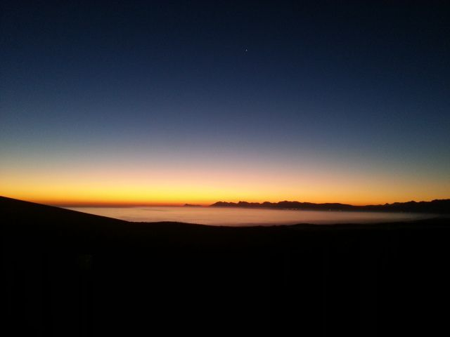 Sunset over Walker Bay from Grootbos Nature Reserve, Overberg - Tours du Cap